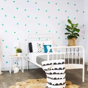 Polk The Dots Teal Wallpaper