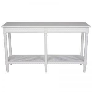 Polo Long Console Table | White
