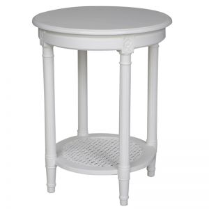 Polo Occasional Table | Round White