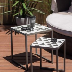 Polygon Nesting Side Table | Set of 2