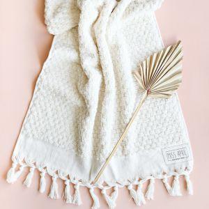 Pom Pom Turkish Bath Towel   Natural