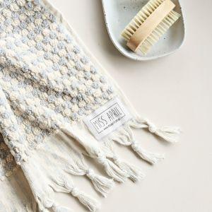 Pom Pom Turkish Bath Towel | Pale Grey