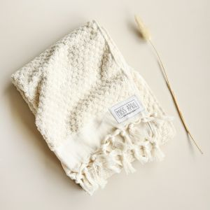 Pom Pom Turkish Hand Towel | Natural