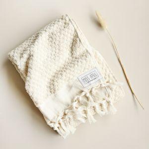 Pom Pom Turkish Hand Towel | Natural