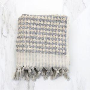 Pom Pom Turkish Hand Towel | Pale Grey
