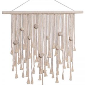 Pom Pom Wall Hanging | by Raw Decor | Ivory