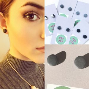 POP + POP Handmade Earrings   Graphite