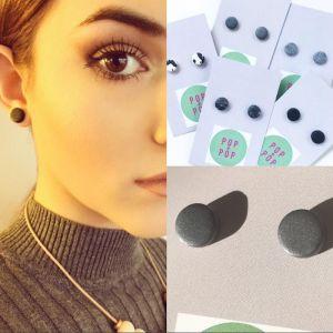 POP + POP Handmade Earrings   Marbled Graphite