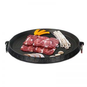 Portable Korean BBQ Butane Gas Stove Stone Grill Plate Non Stick Coated Round