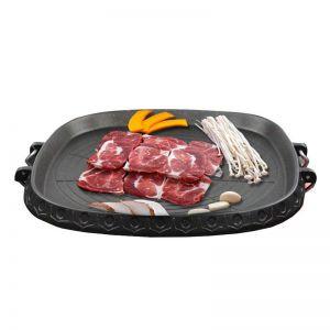 Portable Korean BBQ Butane Gas Stove Stone Grill Plate Non Stick Coated Square