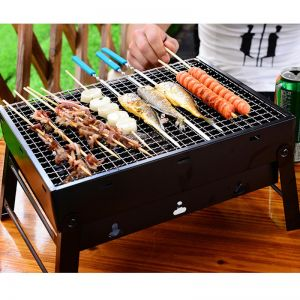 Portable Mini Folding Thick Box-type Charcoal Grill for Outdoor BBQ Camping