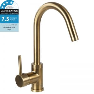 Portolo Kitchen Tap Mixer | Satin Brass PVD