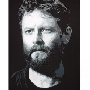 """Portrait of Ben Quilty by Luke """"Elk"""" Cornish"""