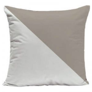 Portsea Half Cushion   Warm Taupe