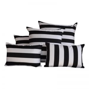 Positano Black | Sunbrella Fade and Water Resistant Outdoor Cushion | Outdoor Interiors