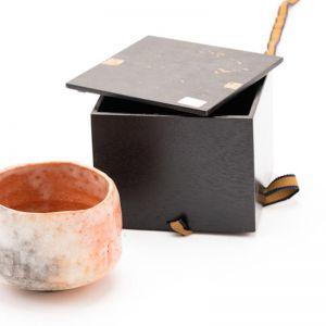 Pottery Raku Tea Bowl   Japanese Vintage