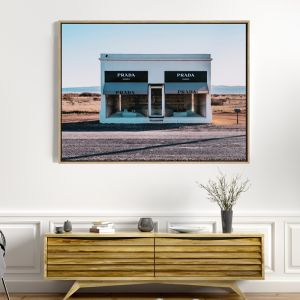 Prada Marfa | Drop Shadow Framed Wall Art