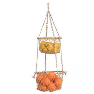 Prairie | 2 Tier Hanging Macrame Basket | Indoor use Only