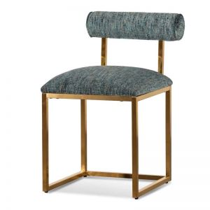Prato Emerald Green Dining Chair | Brushed Gold Base