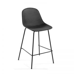 PRE-ORDER - December Arrival | Quinby Outdoor Stool Grey | 75cm Seat