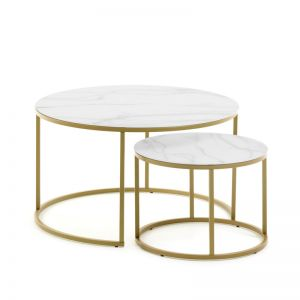 PRE-ORDER - January Arrival | Leonor Nesting Side Tables | Set of 2