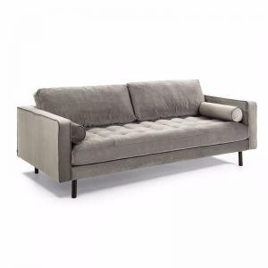 PRE-ORDER - October Arrival   Bogart 2 Seater Sofa   Grey Velvet