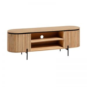 PRE-ORDER - October Arrival |Licia Curved Timber TV Cabinet