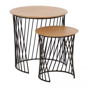PRE-ORDER - September Arrival |Leska Nesting Side Tables | Set of 2