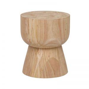 PRE ORDER   Woodrow Hourglass Stump Stool   Fenton & Fenton