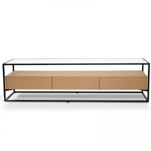 Prologue Entertainment Unit | Oak/Black Frame | CLU Living | Preorder
