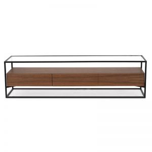 Prologue Entertainment Unit | Walnut/Black Frame | CLU Living