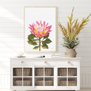 Protea 1 Living Art by Pick a Pear | Framed Wall Art