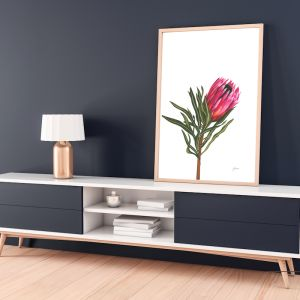 Protea 2 Living Art by Pick a Pear | Framed Wall Art