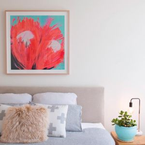 Protea Crushing #2 by Amanda Parsons | Limited Edition Print | Framed
