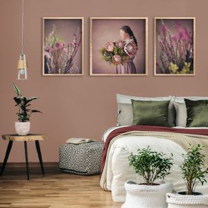 Protea Girl Gallery Wall | Set of 3 Art Prints | Unframed