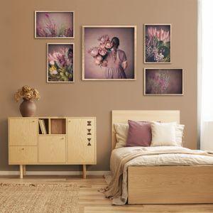Protea Girl Gallery Wall | Set of 5 Art Prints | Framed or Unframed