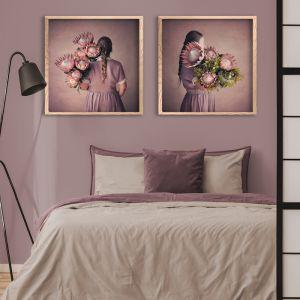 Protea Girl | Set of 2 Art Prints | Framed or Unframed