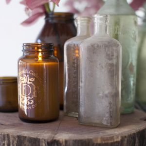 Provincial Pear Soy Candle In Amber Bottle