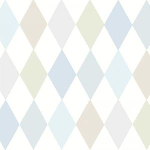 Punchinello Wallpaper - Soft Blue