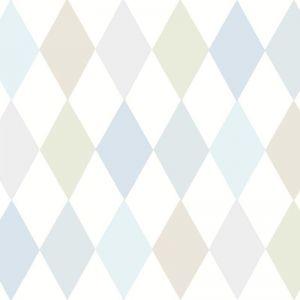 Punchinello Wallpaper - Soft Blue