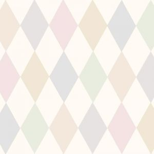 Punchinello Wallpaper - Soft Pink