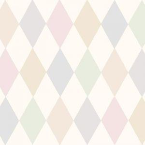 Punchinello Wallpaper - Soft Pink
