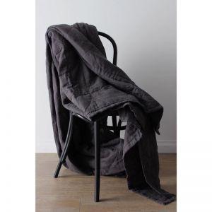 Pure Linen Bespoke Blanket by Bedtonic   Slate