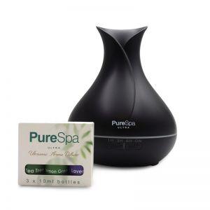 PureSpa Ultra Aroma Diffuser | 3 Oils | Matte Black