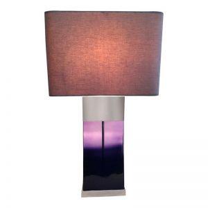 Purple Flask Lamp by Shaynna Blaze