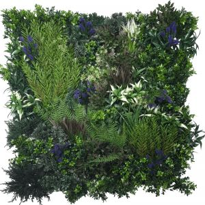 Purple Lavender Field Vertical Garden | Green Wall UV Resistant | 90cm x 90cm