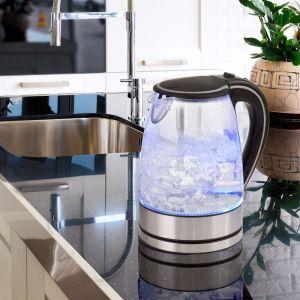 Pursonic 1.7L Glass Kettle | Blue LED