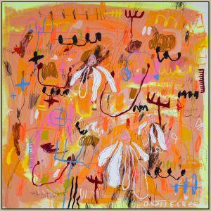 Pushing Up Daisies by Nadia Düsselberg | An Original Painting