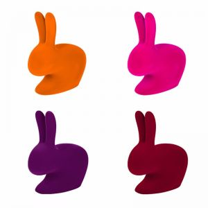 Qeeboo Rabbit XS Bookend Velvet Finish