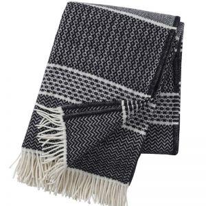 Quilt Wool Blanket | Black